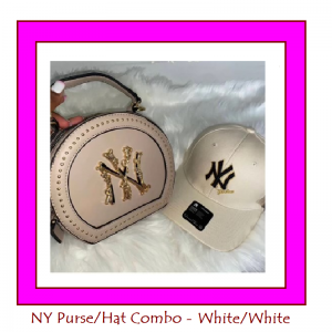 white purse hat